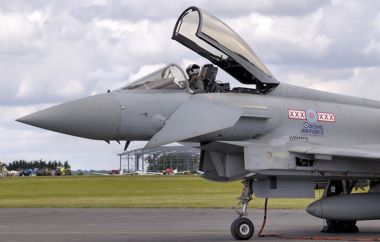 Обои fighter, military, eurofighter, Typhoon. Авиация foto 14