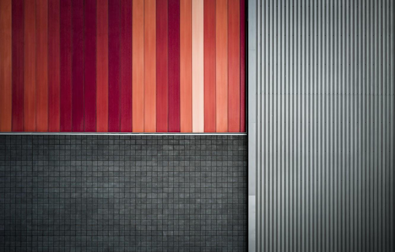 Фото обои стена, цвет, форма