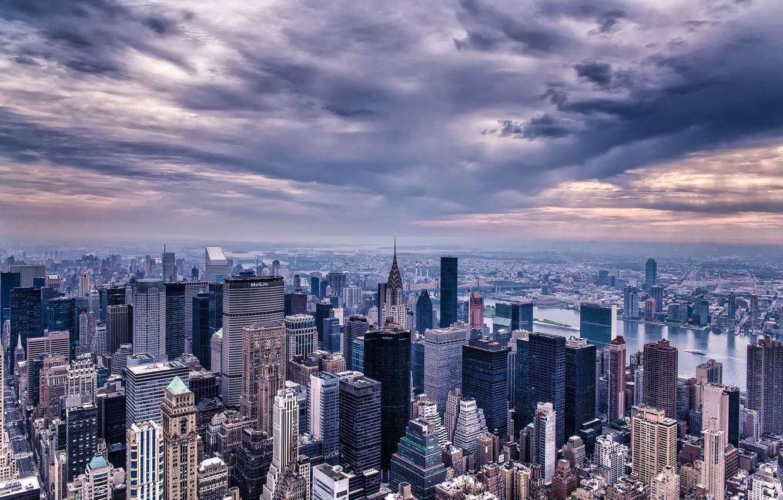 Обои горизонт, здание, new york, небоскребы. Города foto 7