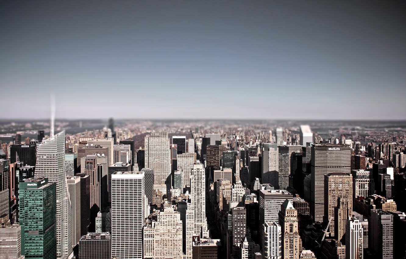 Фото обои winter, buildings, roofs, cold, empire state building, metlife
