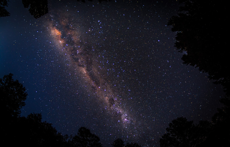 Фото обои небо, звезды, ночь, млечный путь