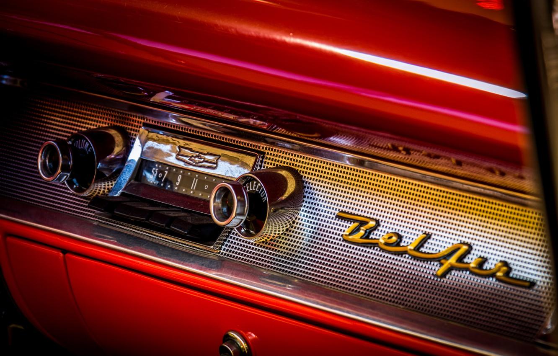 Фото обои Chevrolet, 1957, Bel Air Convertible