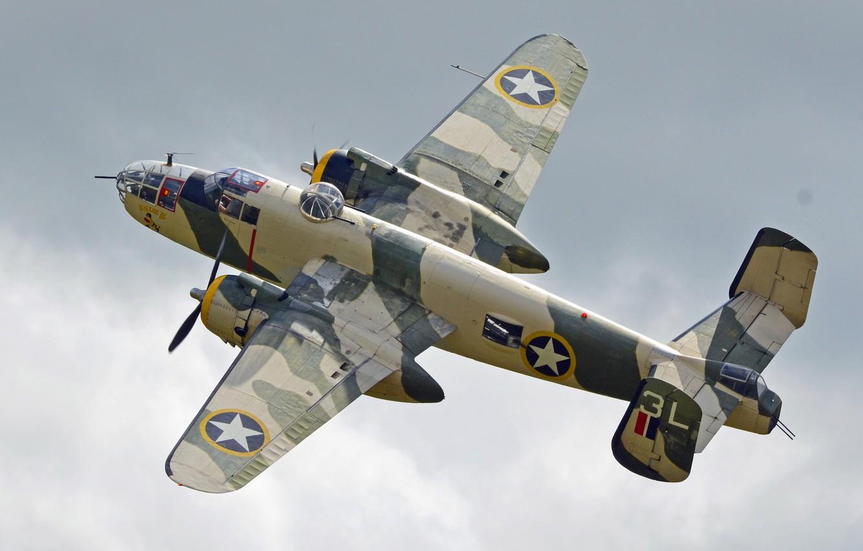 Обои средний, двухмоторный, b-25j, американский, North american. Авиация foto 6