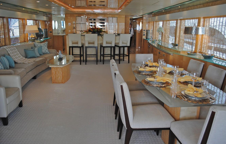 Фото обои дизайн, стиль, интерьер, яхта, салон, люкс, столовая