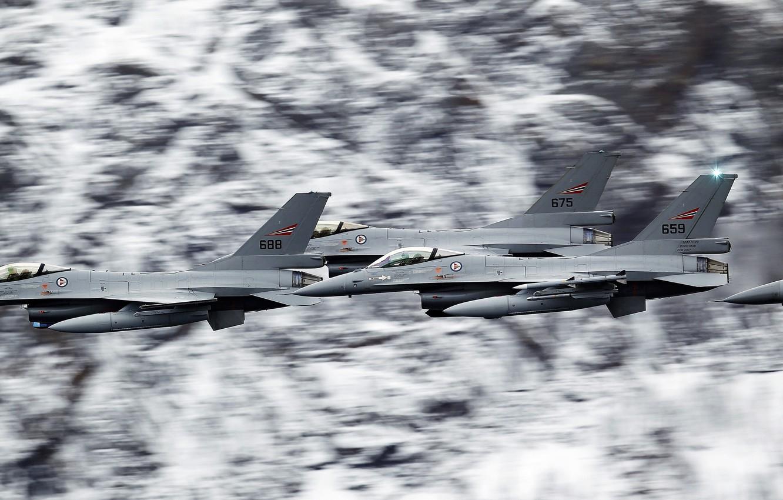 Обои Самолёт, fighting falcon, вираж, истребитель, Пейзаж. Авиация foto 12