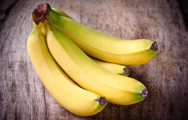 Фото обои желтый, фон, widescreen, обои, еда, фрукт, бананы, wallpaper, банан, широкоформатные, background, полноэкранные, HD wallpapers, широкоэкранные, …