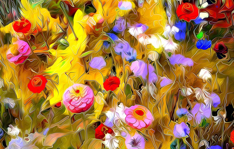 Обои луг, цветы. Абстракции foto 10