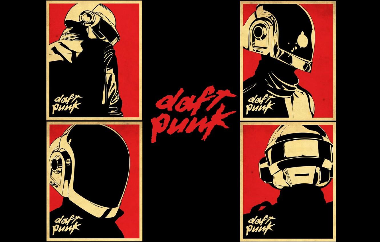 Фото обои музыка, music, плакат, Daft Punk, постер