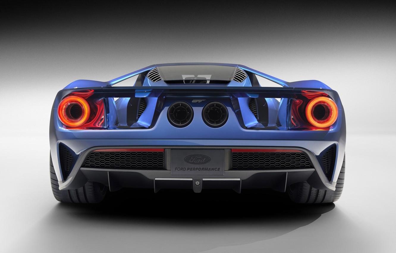 Фото обои Concept, Ford, Синий, Вид, Концепт, Форд, Сзади, 2017