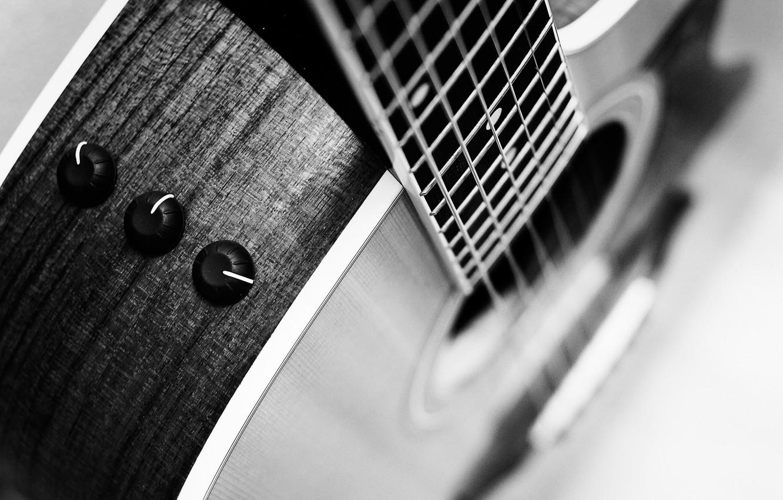 Фото обои макро, гитара, acoustic