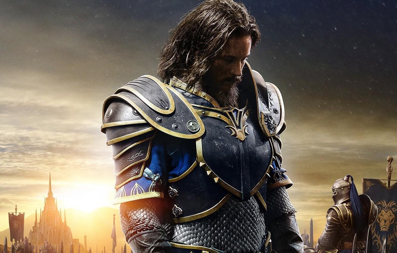 Фото обои cinema, battlefield, flame, logo, fantasy, game, star, Warcraft, Blizzard, armor, sky, war, cloud, lion, man, …