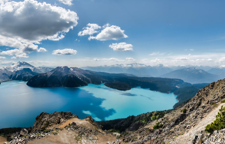 Фото обои пейзаж, Природа, панорама, Canada, British Columbia, Squamish-Lillooet, Panorama Ridge
