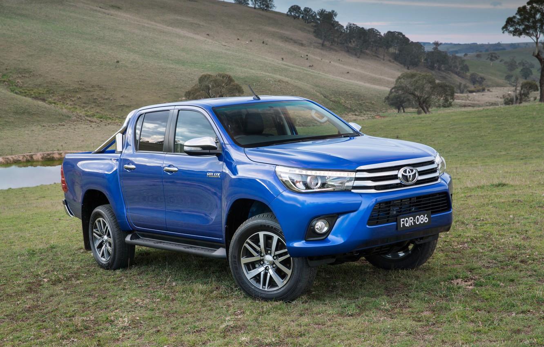 Фото обои джип, Toyota, пикап, Hilux, 4x4, тойота, хайлюкс, Double Cab, SR5, AU-spec, 2015, хеликс