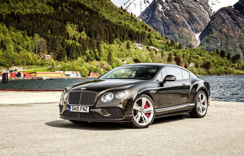 Фото обои Bentley, Continental, Speed, бентли, 2015