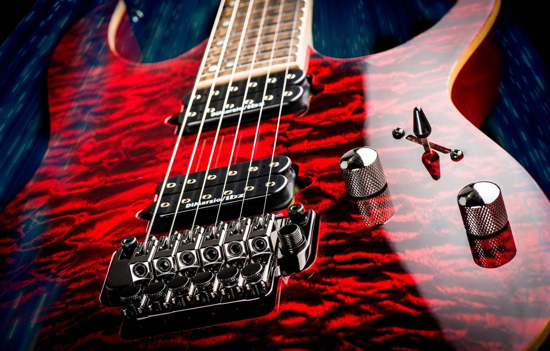 Фото обои макро, музыка, фон, гитара