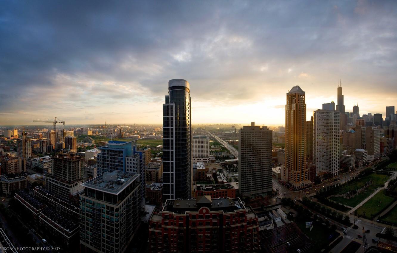 Фото обои города, здания, дороги