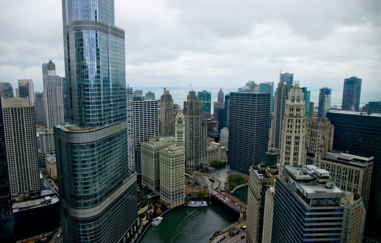 Обои америка, чикаго, высотки, небоскребы, chicago, сша, здания. Города foto 19