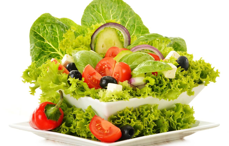 Фото обои зелень, овощи, vegetables, greens, овощной салат, vegetable salad