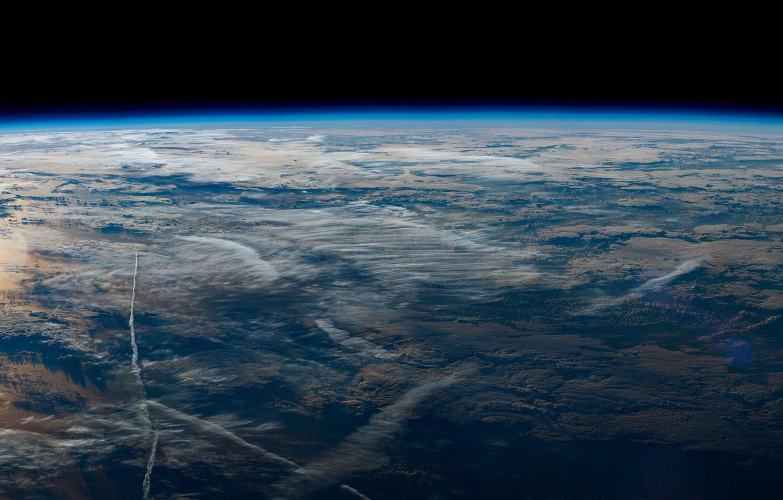 Фото обои Планета, Космос, Земля, Earth from the International Space Station
