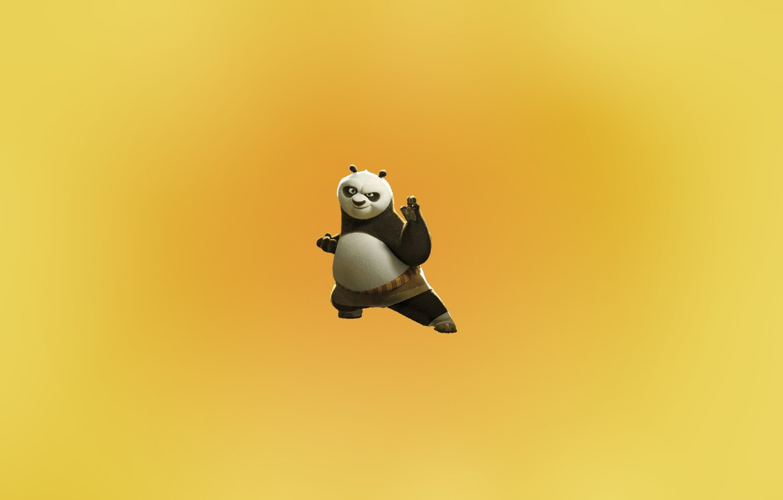 Фото обои minimal, pose, panda, kungfu