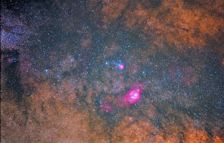 Фото обои космос, звезды, туманность, nebula, мироздание