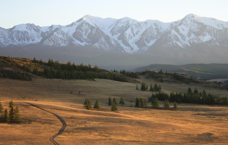 Фото обои осень, горы, Алтай