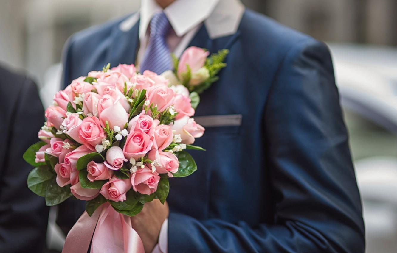 Обои жених, свадебный, цветы. Праздники foto 7