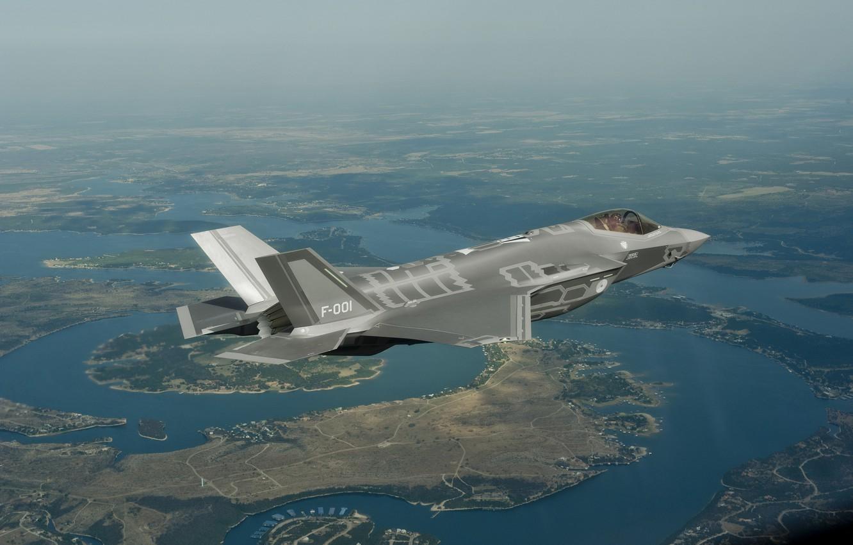 Обои F-35, lightning ii, истребитель, бомбардировщик, суша. Авиация foto 6