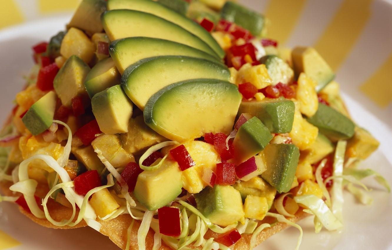 Фото обои еда, перец, фрукты, овощи, капуста, вкусно, авокадо