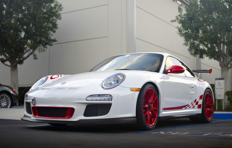 Фото обои 911, Porsche, Порше, Автомобиль, Парковка, Суперкар, GT 3