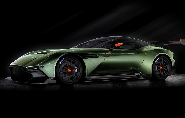 Фото обои зеленый, Aston Martin, вулкан, астон мартин, 2015, Vulcan