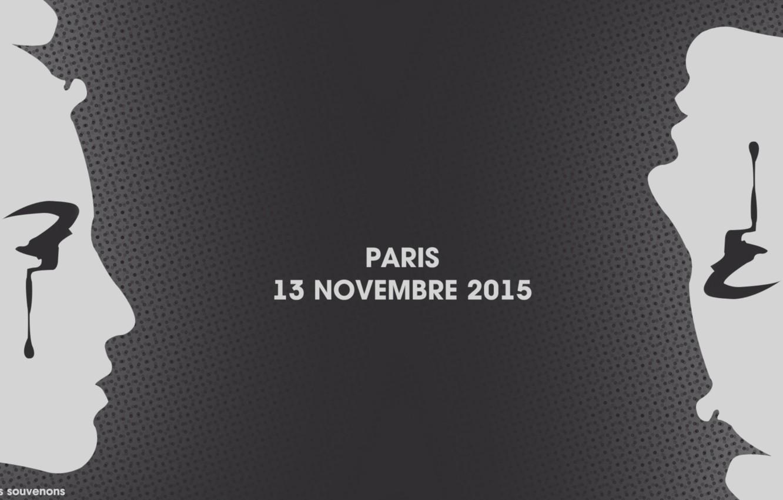 Фото обои Париж, Paris, теракт, 13 Ноября, terrorist attack, We remember, 13 November 2015, Novembre