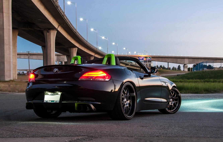 Фото обои BMW, light, black, sky, tuning, bright