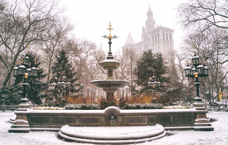 Обои Nyc, manhattan, new york, winter. Города foto 16