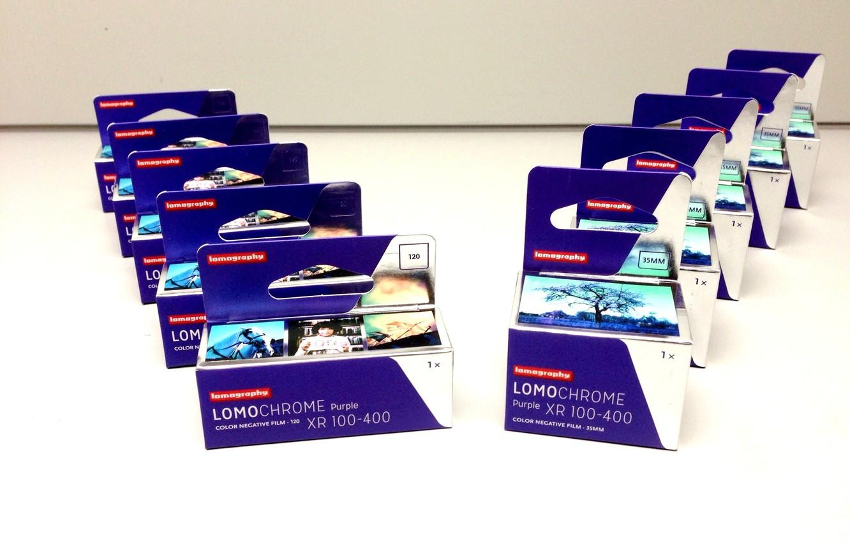 Фото обои фон, фотопленка, пурпурная, 120-mm, 35-mm, LomoChrome Purple