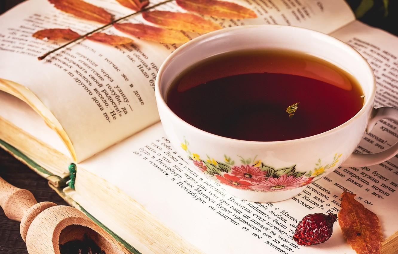 Обои напиток, книга, чтение, чай, окно. Разное foto 12