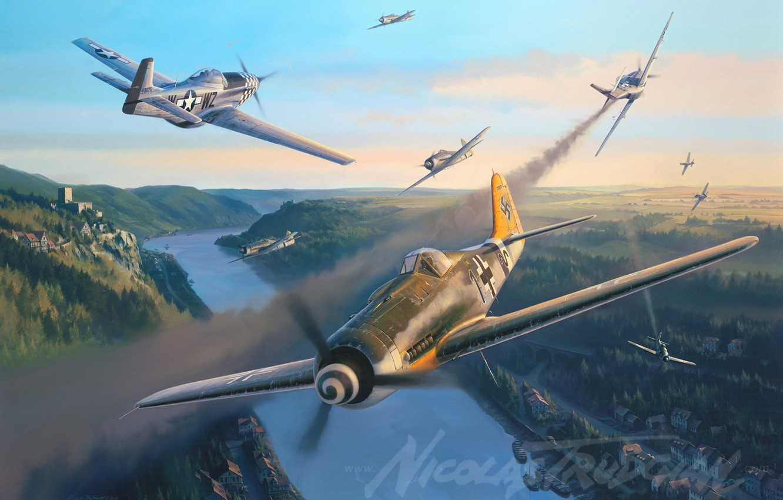 Обои Bf 109 k4, war, painting, german fighter, ww2, aviation. Авиация foto 17