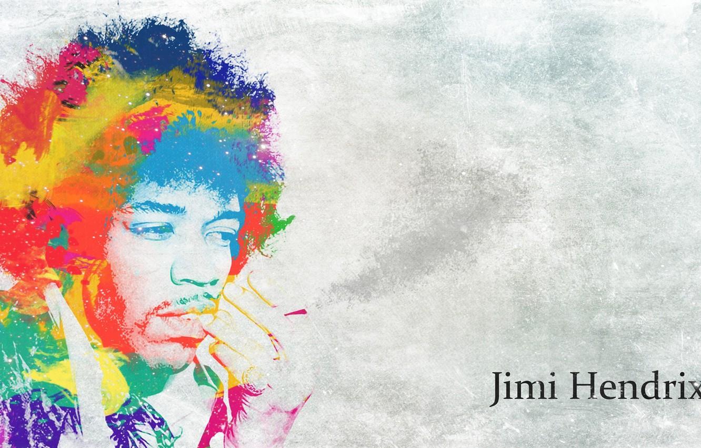 Фото обои стиль, гитарист, певец, композитор, психоделика, Jimi Hendrix, многоцветность, Джими Хендрикс