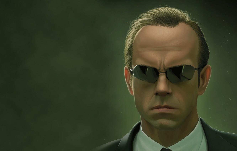 Обои the matrix, очки, матрица, hugo weaving, agent smith. Фильмы foto 6