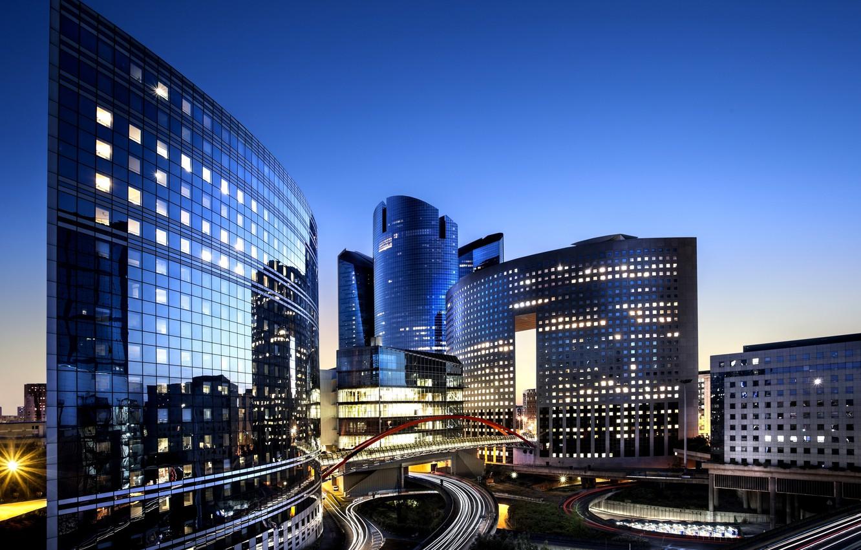 Обои дефанс, france, ночь, la défense, paris. Города foto 7