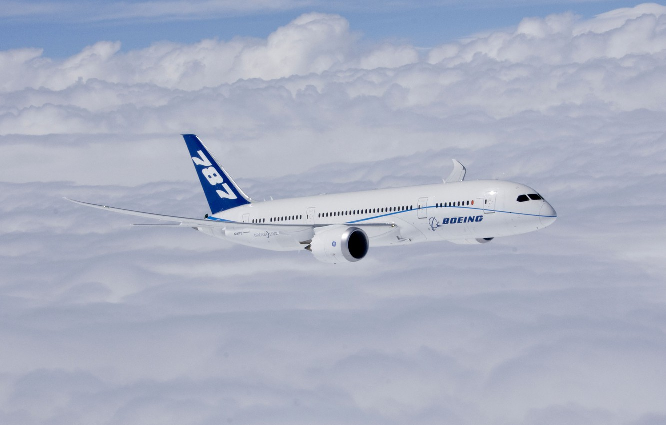 Обои powered by ge engines, Boeing 787-8, boeing completes first flight of first 787 dreamliner. Авиация foto 6