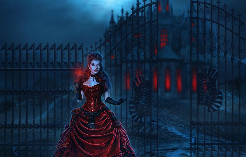 замок и ведьма картинки арт