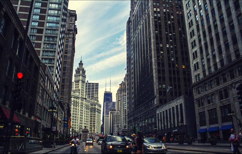 Обои высотки, чикаго, chicago, небоскребы, center. Города foto 9