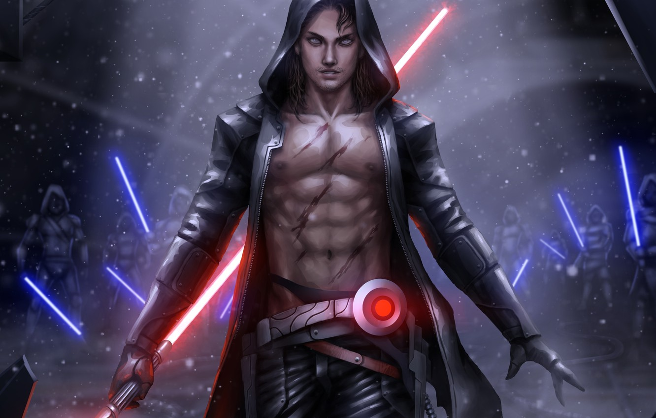 Фото обои star wars, fan art, lightsaber, sith