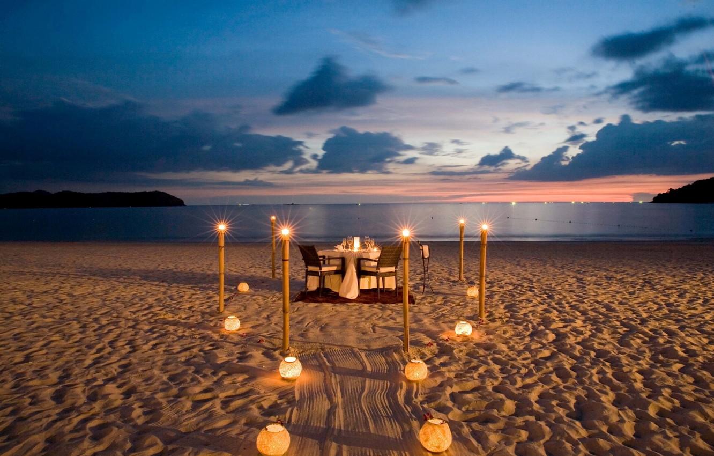 него фото ужин море песок океан сети