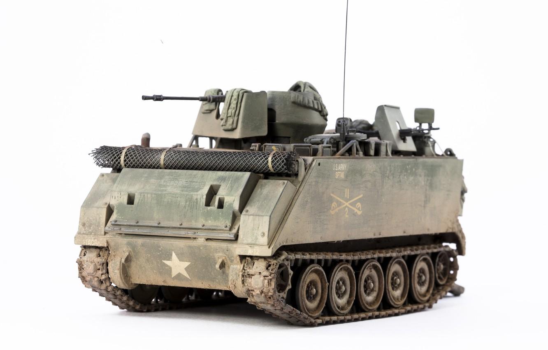 Фото обои игрушка, бронетранспортёр, моделька, M113A1, ACAV