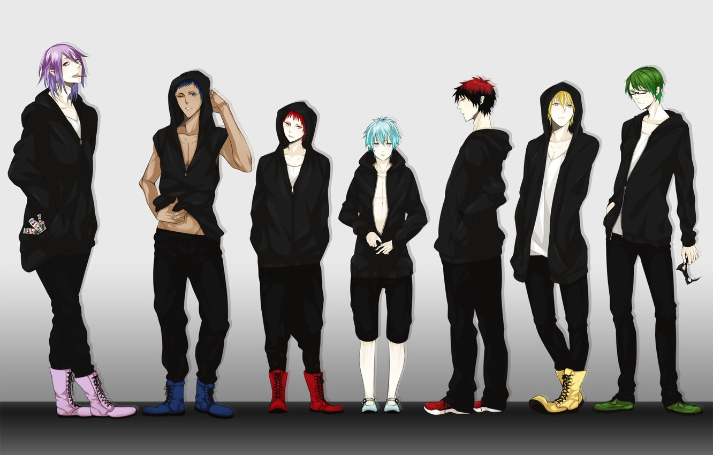 Фото обои аниме, очки, парни, Kise Ryouta, Kuroko Tetsuya, баскетбол куроко, Kuroko no Basket, Aomine Daiki, Midorima …