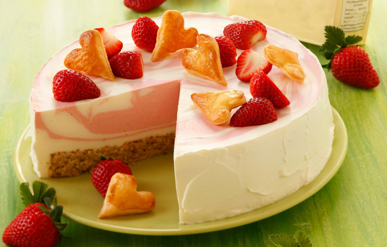 Обои Strawberry, cake, food. Еда foto 9
