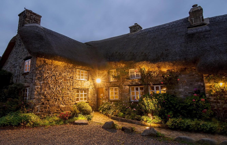 Фото обои England, Cities, Hauses, Devon.