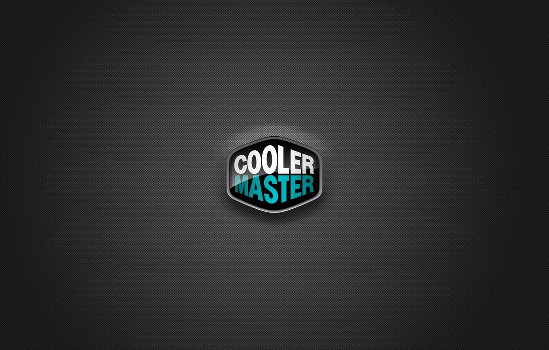 Фото обои logo, blue, cooler master
